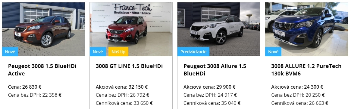 Peugeot Cena