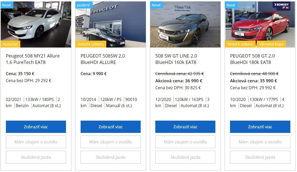Peugeot Akcia Na 508