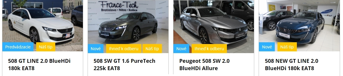 Peugeot 508 Skladove Vozidla B