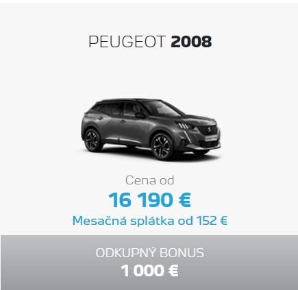 Peugeot 2008 Ponuka Apr