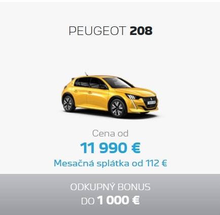 Peugeot 208 Ponuka Apr