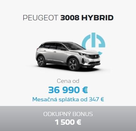 Peugeot 3008 Hybrid Ponuka Apr