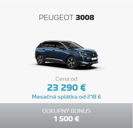 Peugeot 3008 Ponuka Apr