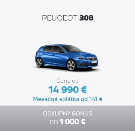 Peugeot 308 Ponuka Apr