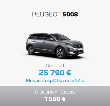 Peugeot 5008 Ponuka Apr