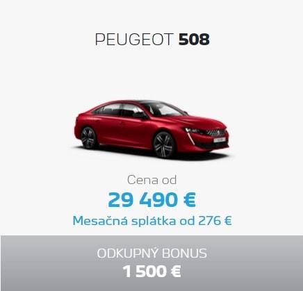 Peugeot 508 Ponuka Apr