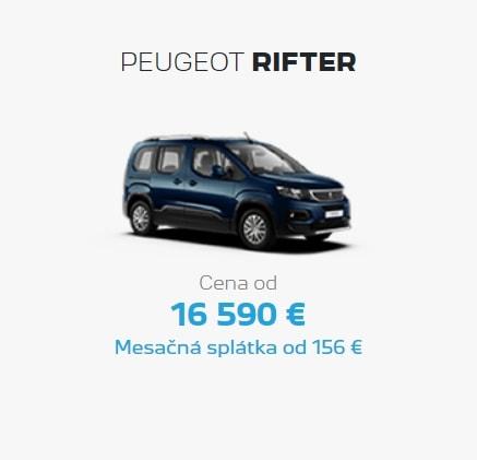 Peugeot Rifter Ponuka Apr