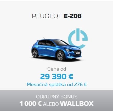 Peugeot E 208 Ponuka Apr