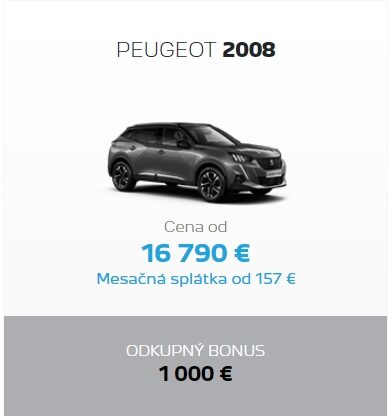 Peugeot 2008 Odkupny Bonus 2
