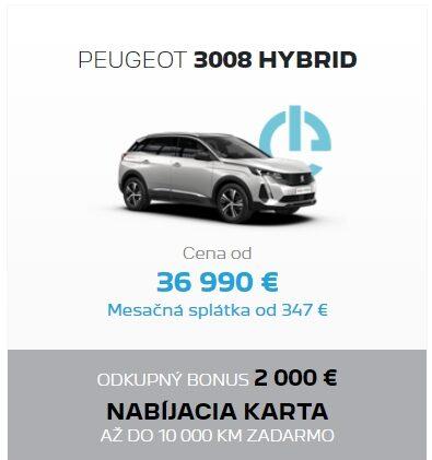 Peugeot 3008 Hybrid Odkupny Bonus 2