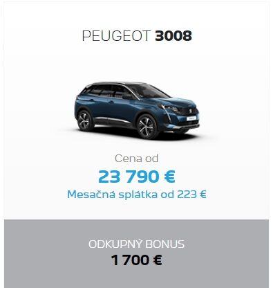 Peugeot 3008 Odkupny Bonus 2