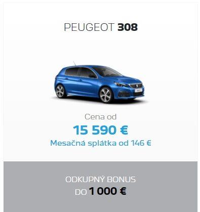 Peugeot 308 Odkupny Bonus 2