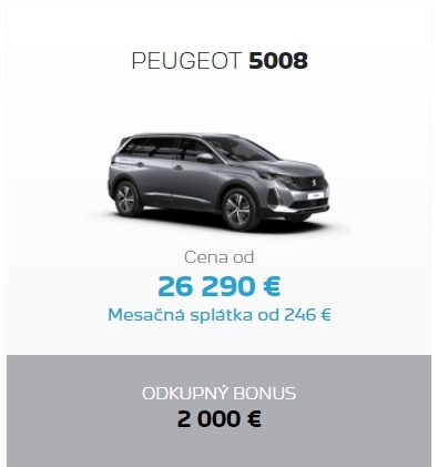 Peugeot 5008 Odkupny Bonus 2