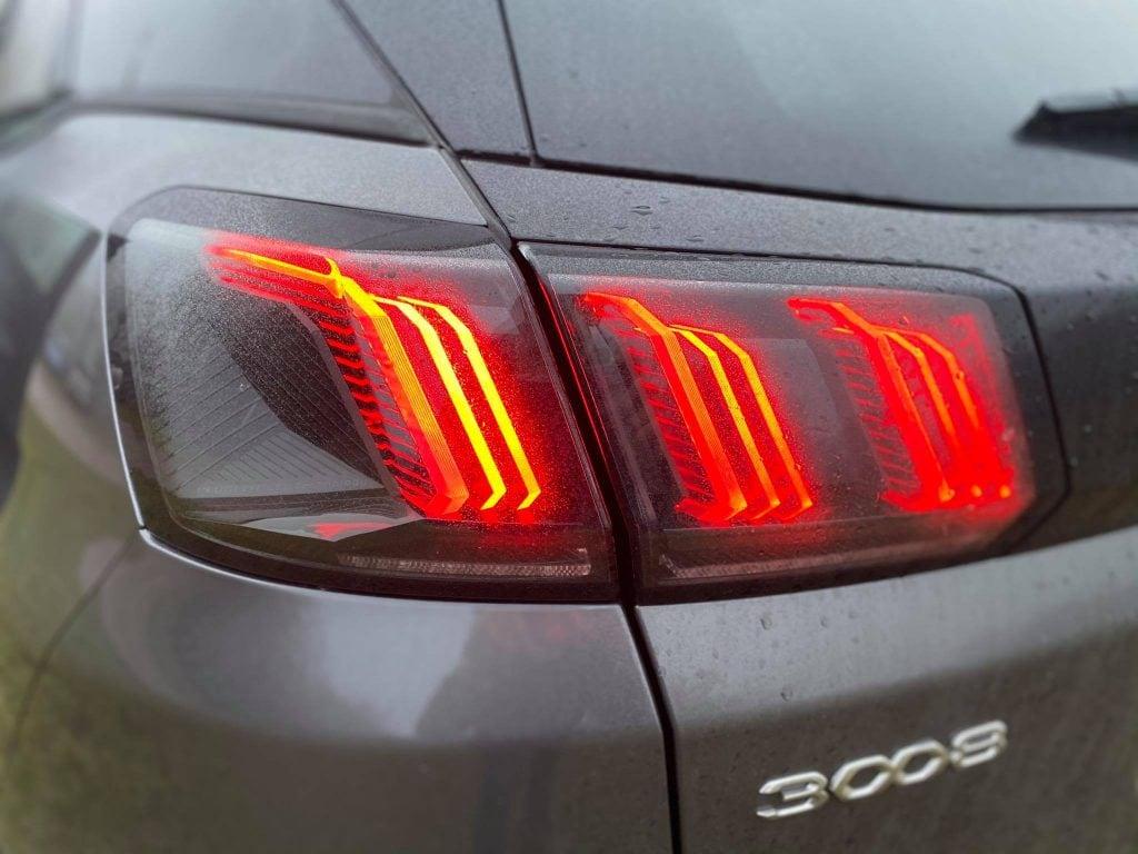 Peugeot 3008 test Zadné Svetlá